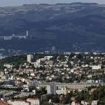 Panorama de la ville de Saint-Etienne depuis le Guizay