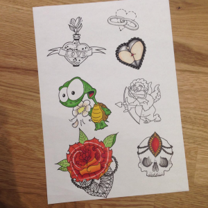 top 5 tatoueurs saint-etienne bittersweet ink tattoo flash