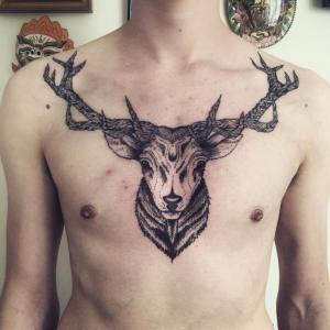 top 5 tatoueurs saint-etienne caravan tattoo cerf