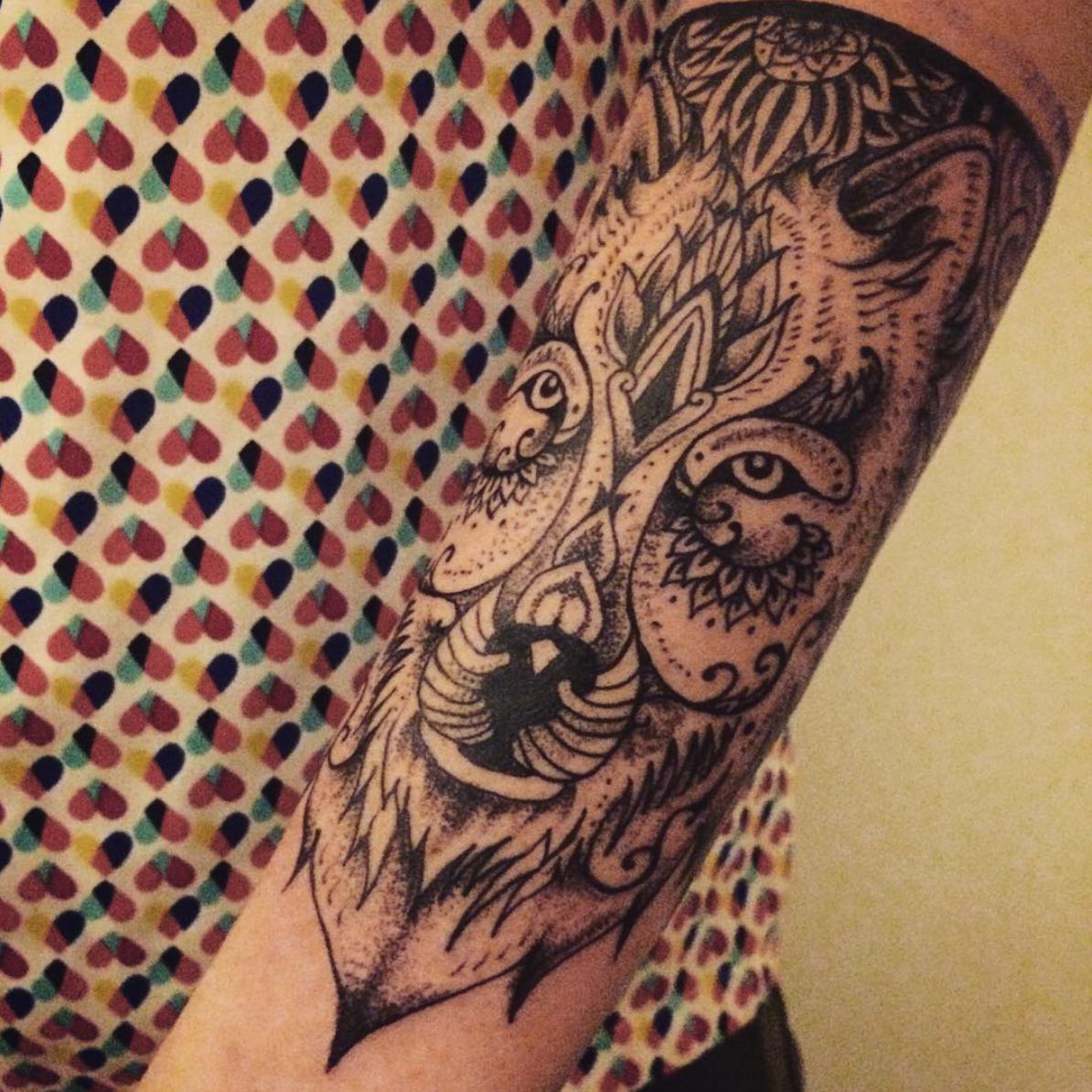 top 5 tatoueurs saint,etienne caravan tattoo loup
