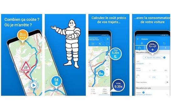 Michelin itinéraire application